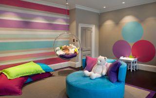 Цветной дизайн детской комнаты