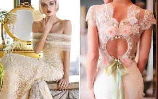 Кружевные свадебные платья: винтажная красота, не подвластная времени