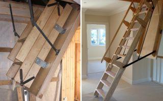 Самостоятельная установка люка, чердачная лестница складная