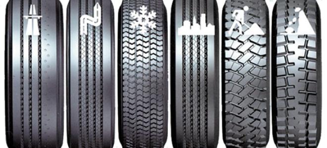Классификация автомобильных шин по виду протекторных узоров